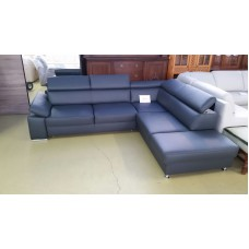Dabīgās ādas stūra dīvāns